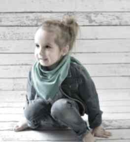 Chusteczka apaszka bawełniana dla dzieci turkusowa chustki