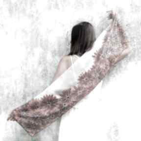 Ręcznie malowany szal rudbekie szaliki minkulul jedwabny, szalik