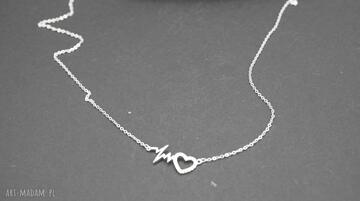 Naszyjnik srebrny linia życia naszyjniki pracowniamila naszyjnik