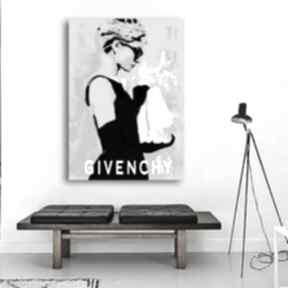 Audrey hepburn obraz na płótnie rozmiar 50 x 70 cm, moda