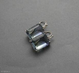 Kolczyki cieniowane sisu szkło, wiszące, eleganckie,