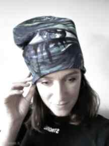 Czapka oko czapki katarzyna staryk malowane ręcznie, abstrakcja