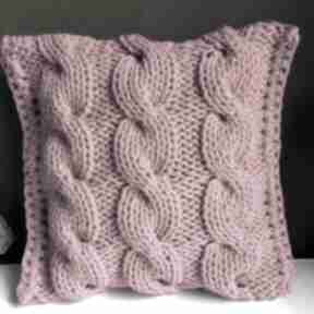 Poduszka ze sznurka bawełnianego danusia 40x40 cm 360 fuksja