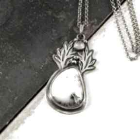 Agat i zimowy wędrowiec wisiorki ewasko srebrny wisiorek