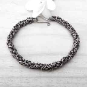 Klasycznie bizantyjska - bransoletka męska jewelsbykt miedź