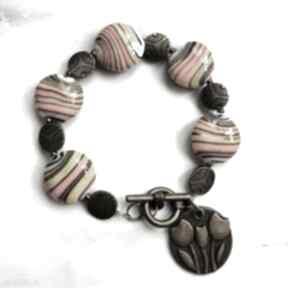 Bransoletka z porcelanowych korali w114 everyday women mutikolor