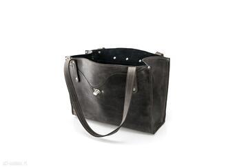 Skórzana torebka w stylu vintage wykonana ręcznie przez ladybuq