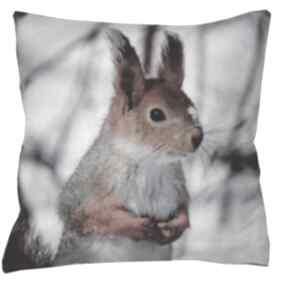 poduszkidekoracyjna świąteczna zimowa wiewiórka