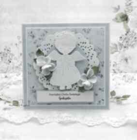 Pamiątka chrztu dla chłopca 2 scrapbooking kartki papierowa