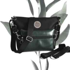 Torebka modułowa black 4w1 - malachite snake mini tasha handmade