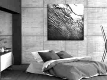 Srebrne marszczenia art and texture srebrna dekoracja, sztuka