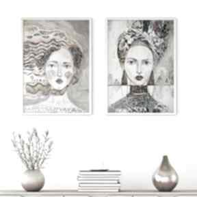 Zestaw 2 plakatów 100x70 cm - twarze plakaty creo plakat, wydruk