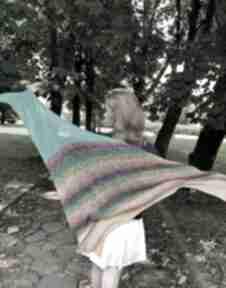 chustki i apaszki! chusta colorful birds linen
