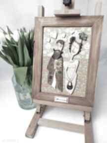 Obraz ceramiczny mozaika 30 rocznica ślubu ceramika projekty