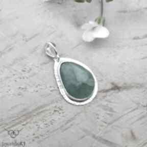Klasycznie szmaragdowy - wisior wisiorki jewelsbykt srebrny