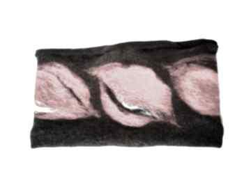 Czarna ciepła wełniana opaska filcowana zimowa opaski ruda klara