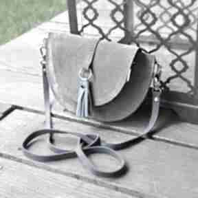 Skórzana torebka dla dziewczynki - szara torebki beltrani