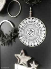 dekoracje. łapacz-snów lapacz dekoracja-ścienna koronka koło