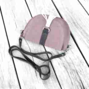 Skórzana torebka - różowy welur dla dziecka beltrani torebka,