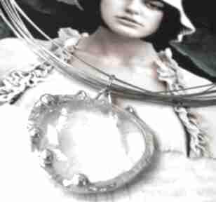 Naszyjnik: z naturalnym kryształem górskim naszyjniki witrazka