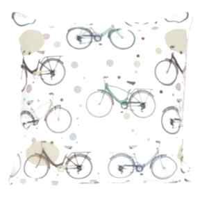 Poduszka bawełnina rowery 40x40cm wyprzedaż poduszki majunto