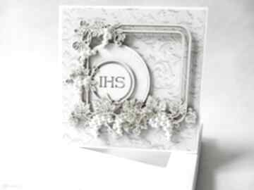 Pierwsza komunia - w pudełku scrapbooking kartki marbella