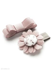 Spineczki do włosów kwiatek i kokardka florence dla dziecka
