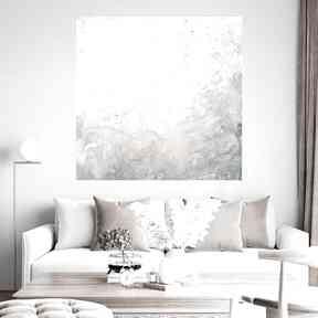 Obraz abstrakcyjny 80x80 byferens abstrakcja, jasne klory, jasny
