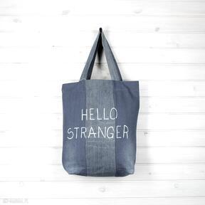 Torba dżinsowa hello stranger things godeco torba, dżinsowa