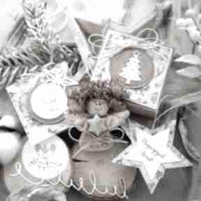 Upominek święta! Aniołek bożonarodzeniowy zestaw świąteczny: