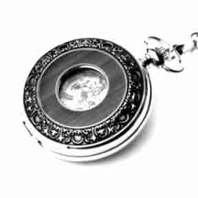 Elegancja w drewnie iii silver zegarki drobinyczasu zegarek
