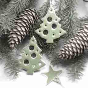 Pomysł na świąteczny upominek. Choinki zestaw zawieszek dekoracje