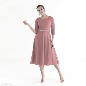 Sukienka 18 ss 2021 sukienki pawel kuzik szyfonowa, wesele