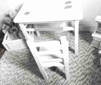 Stolik i krzesełko maluch szary królik pokoik dziecka wnetrze