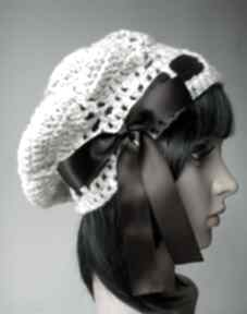 Melanżowy beret czapki izabelaart1 ciepła