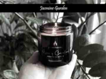 Naturalna świeca sojowa - jaśminowy ogród 120 ml szaliki luxury