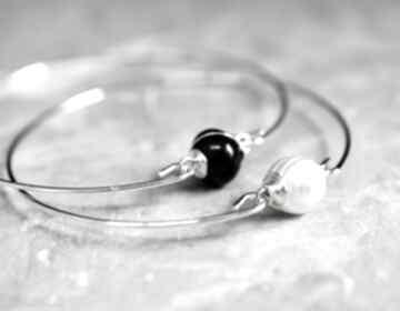 Bransoletki perłą słodkowodną dwupak szt perła dmuchawiec biała