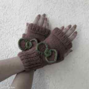Z kokardą rękawiczki albadesign rękawiczki, mitenki, kokarda