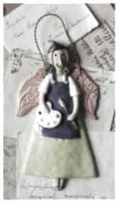 ceramika? ceramika anioł malarka pędzel paleta
