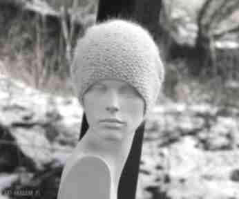 Wyjątkowo ładna 100% merino czapa czapki aga made by hand merino