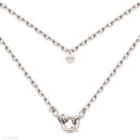 Łańcuch z różowego złota ozdobnym zapięciem naszyjniki sotho