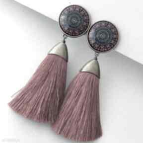 Klipsy lucy bead story boho, etno, folk, lato, chwosty,