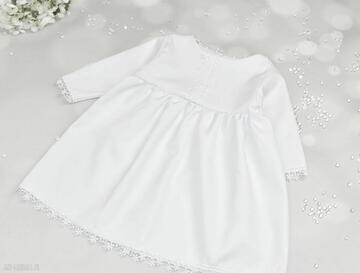 Sukienka do chrztu biała z koronka noeli chrzest