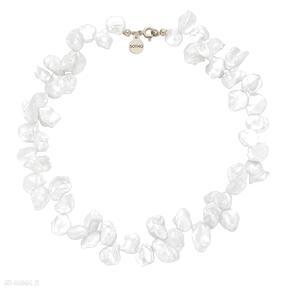 Złoty naszyjnik z naturalnych pereł naszyjniki sotho perły