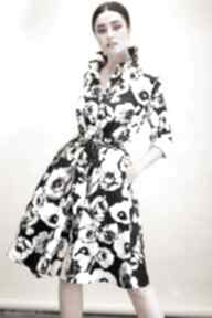 sukienki! midi bawełna szmizjerka rozkloszowana kwiaty