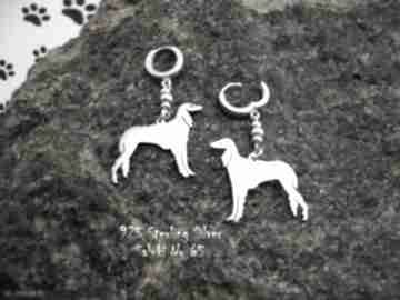 Chart perski saluki srebro próby 925 kolczyki nr 65 frrodesign