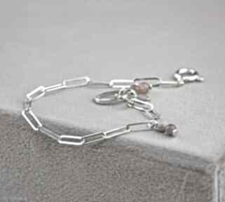 Zgustem bransoletka srebrna, delikatna bransoletka, srebro925
