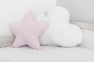 Zestaw 2 poduch różowo-biały pokoik dziecka nunli poduszka