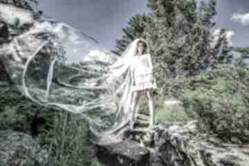 Selena - suknia ślubna ślub milita nikonorov ślubna, falbany,