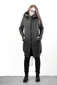 Płaszczyk ashmitta z kapturem płaszcze navahoclothing długa